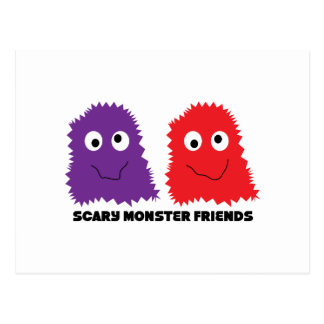 Scary Monster Friends Post Cards