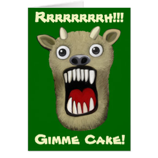 Scary Monster - Gimme Cake Greeting Card