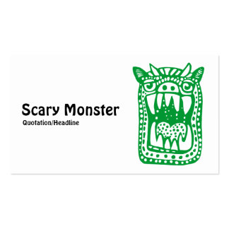 Scary Monster - Green Pack Of Standard Business Cards