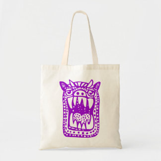 Scary Monster - Purple Budget Tote Bag