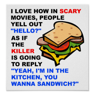 Scary Movie Hello Funny Poster