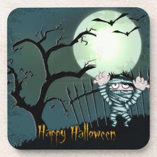 Scary Mummy Halloween Decorative Coasters