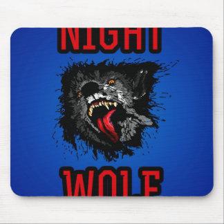 Scary Night Wolf Mousepads