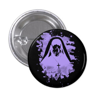 Scary now - violet 3 cm round badge