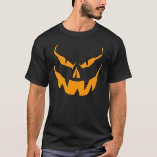Scary O Lantern orange on black T-Shirt