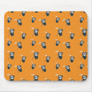 Scary orange Death Pattern Mouse Pad