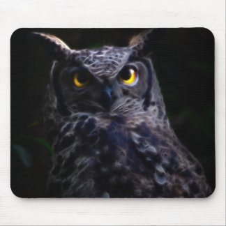 Scary owl Halloween Mouse Pads