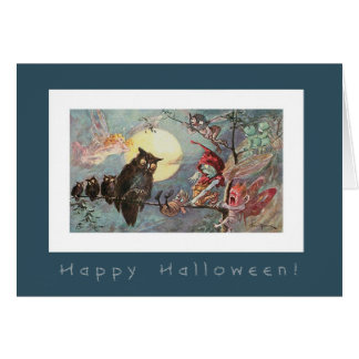 Scary Owls and Fairies by Maybank - Halloween Card