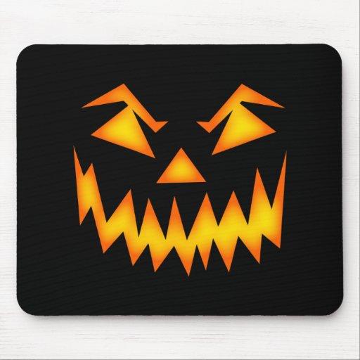 Scary Pumpkin Face Mousepads
