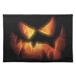 Scary Pumpkin Face Placemats