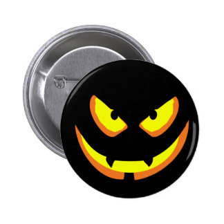 Scary Pumpkin Face Style A Button
