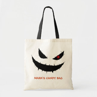 Scary Pumpkin Face Budget Tote Bag
