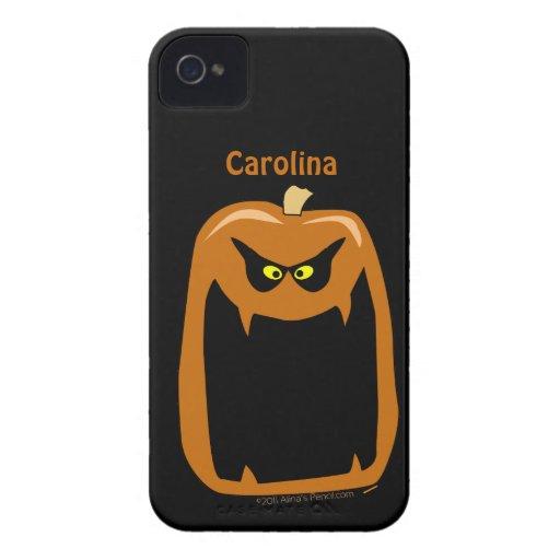 Scary Pumpkin Halloween Cool Custom Name Blackberry Bold Covers