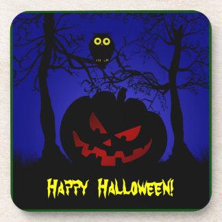 Scary Pumpkin Halloween Drink Coaster