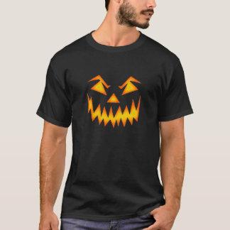 Scary Pumpkin Halloween Face T-Shirt
