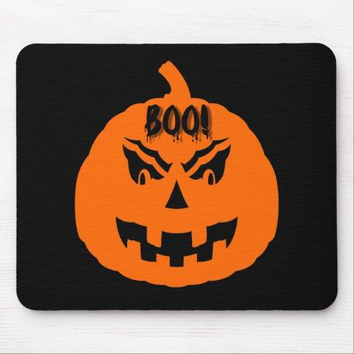 Scary pumpkin halloween mousepads