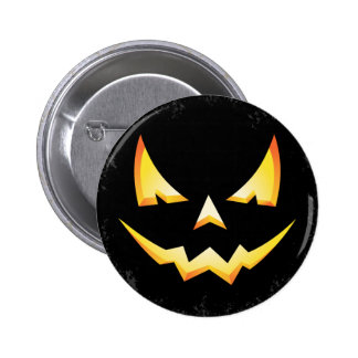 Scary Pumpkin Halloween Round Button