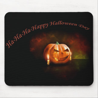 Scary Pumpkin Happy Halloween Day Mouse Pad