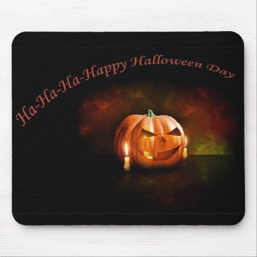 Scary Pumpkin Happy Halloween Day Mousepad