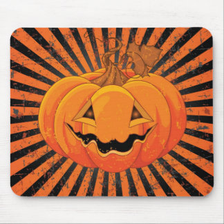Scary Pumpkin Jack O' Lantern Mouse Pad