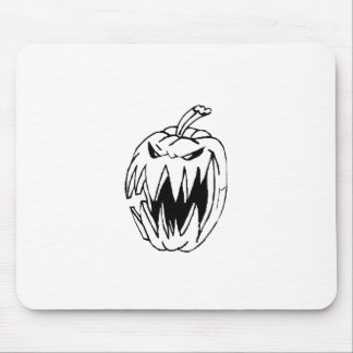 Scary pumpkin mouse pad