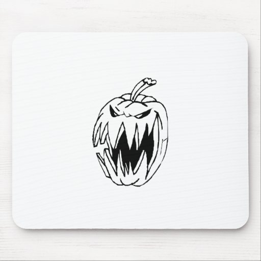 Scary pumpkin mouse pads