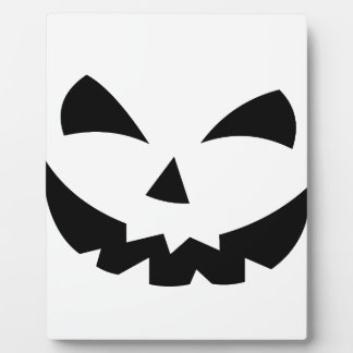 Scary Pumpkin Plaque