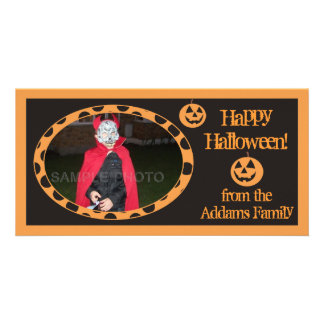 Scary Pumpkins Personalized Photo Cards