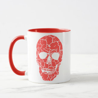 Scary Red Skeleton Skull Halloween Coffee Mug