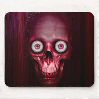 Scary red skull mouse pad