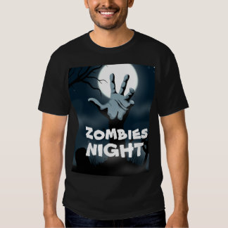Scary Rising dead zombies night Halloween T Shirts