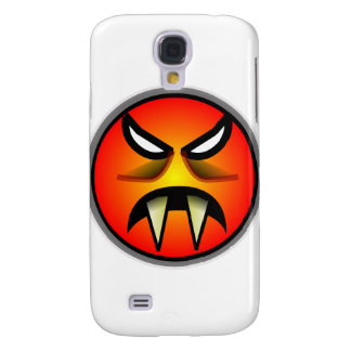Scary Round & Orange Evil Devil Face with Fangs Galaxy S4 Cases