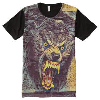 Scary Savage Werewolf Dark Horror Art All-Over Print T-Shirt