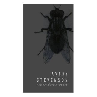Scary Science Fiction Writer Black House Fly Pack Of Standard Business Cards