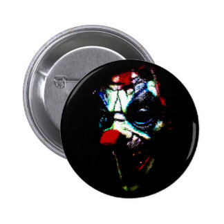 Scary Shadow Clown Button 2 Inch Round Button
