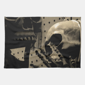 Scary Skeleton Items Tea Towel