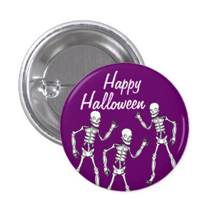 Scary Skeletons Halloween Pin Buttons