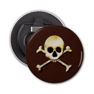 Scary Skull And Crossbones Poison Halloween Bottle Opener