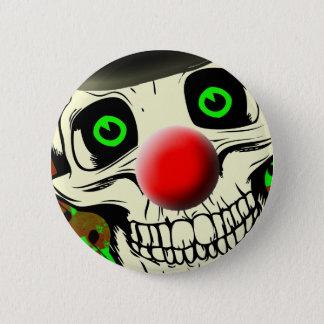 Scary Skull Clown Face Button