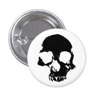 Scary skull cool gothic 3 cm round badge