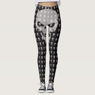 Scary Skull Designer Leggings by Julie Everhart