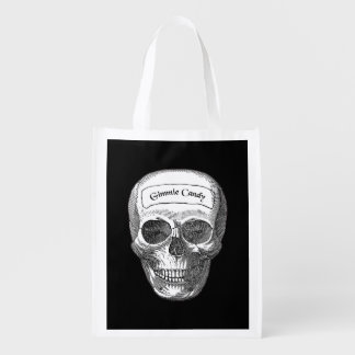 Scary Skull Gimmie Candy Trick Or Treat Bag
