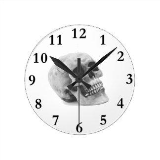 Scary Skull Halloween Theme Round Clock