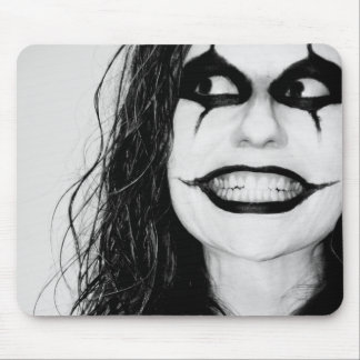 Scary smile mouse pad