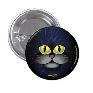 Scary Smiles - Black Cat 3 Cm Round Badge