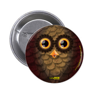 Scary Smiles -  The Owl 6 Cm Round Badge