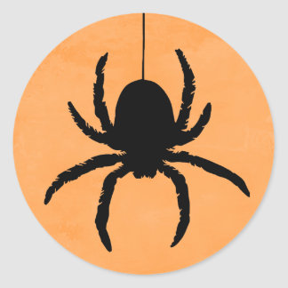scary spooky halloween spider favor stickers - Halloween Spider