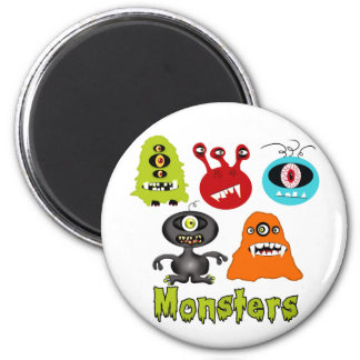 Scary Spooky Monsters Aliens Creatures 6 Cm Round Magnet