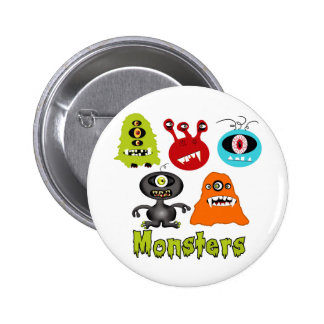 Scary Spooky Monsters Aliens Creatures Button
