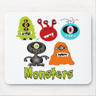 Scary Spooky Monsters Aliens Creatures Mouse Pads